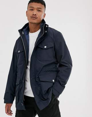 Armani Exchange field jacket with detachable gilet in navy