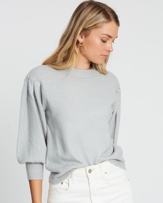 Atmos & Here Leila Puff Sleeve Knit Top
