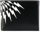 Neil Barrett lightning print wallet - men - Cotton/Leather - One Size