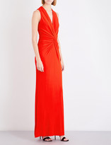 Lanvin Knot-waist stretch-crepe gown
