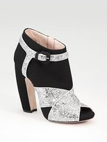 Crisscross Glitter Ankle Boots