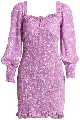 Faithfull The Brand Gombardy Smocked Mini Dress