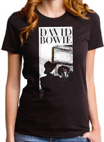Goodie Two Sleeves Black David Bowie Reflection Tee - Juniors