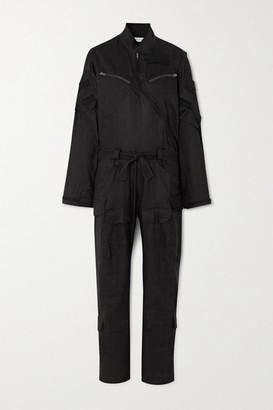 TRE by Natalie Ratabesi Belted Linen-blend Twill Jumpsuit - Black