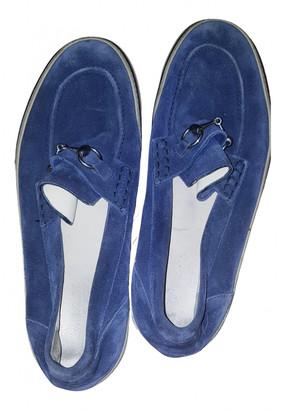 Gucci Blue Suede Flats