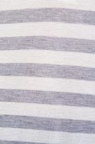 Splendid Heather Grey Stripe Mix Thermal Long Sleeve Henley