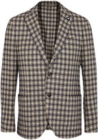 Lardini Checked Wool Blend Blazer