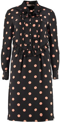 Tory Burch Polka-dot Print Silk Mini Dress