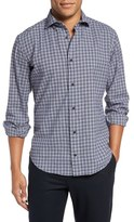 Eleventy Trim Fit Plaid Sport Shirt
