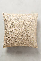 Anthropologie Vegan Leather Glimmer Pillow
