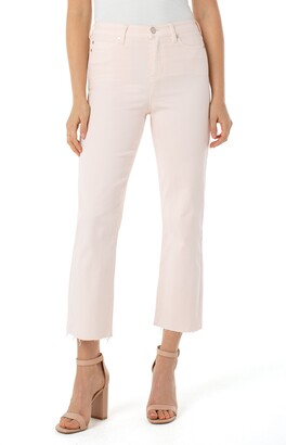 Liverpool Stevie High Waist Raw Hem Stovepipe Jeans