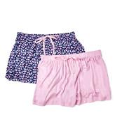 Rene Rofe Women's Sleep Bottoms ASSTFASH - Navy & Light Pink Floral Happy Couple Pajama Shorts Set - Women