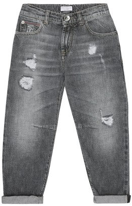 BRUNELLO CUCINELLI KIDS Distressed jeans