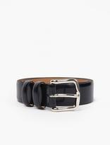 A.P.C. Navy Leather Jeremy Belt