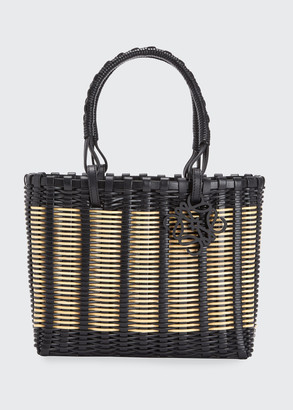 Loewe Bicolor Top Handle Basket Tote Bag