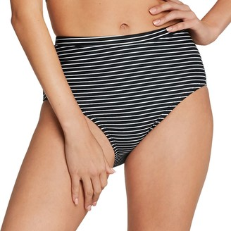 Speedo Women's Print High-Waist Bikini Bottoms