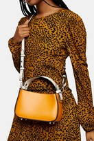 Topshop Womens Orange Colour Block Mini Grab Bag - Orange