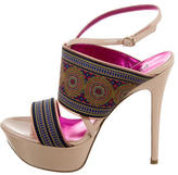 Studio Pollini Satin Platform Sandals
