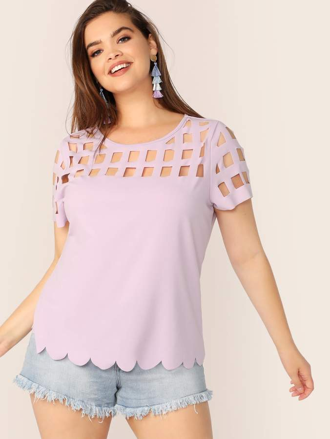 dee4dfe9eb Scalloped Edged Top - ShopStyle