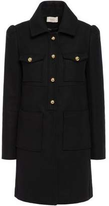 BA&SH Usealy Brushed Wool-blend Twill Coat