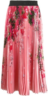 Givenchy floral print pleated skirt