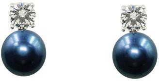 Pure Elements Simply Brilliant Black Pearl Earrings