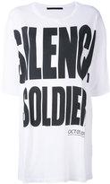 Haider Ackermann 'Silence is Golden' oversize T-shirt - women - Cotton - XS