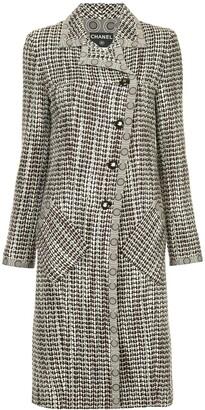 Chanel Pre Owned Tweed Midi Coat