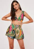 Missguided Pink Paisley Print Co Ord Floaty Chiffon Shorts