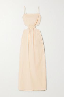 Johanna Ortiz White Sand Cutout Cotton-blend Maxi Dress - Off-white