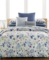 Calvin Klein Watercolor Peonies Queen Comforter