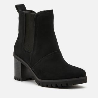UGG Women's Hazel Waterproof Leather Heeled Chelsea Boots