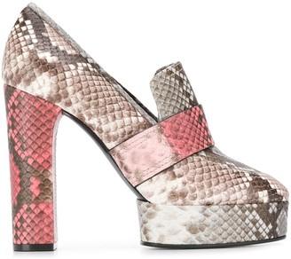 Casadei Zambe snakeskin heeled pumps