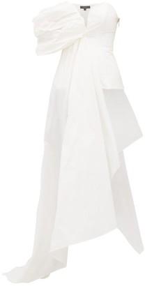Ellery Antigua Asymmetric Draped Taffeta Bustier - Womens - White