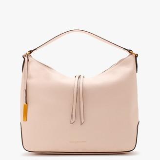 Smaak Kaylee Pebbled Pink Leather Hobo Bag