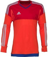 adidas Mens 3 Stripe Top 15 ClimaCool Padded Goalkeeper Shirt Bright Red/Scarlet