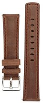 Signature Traveller watch band. Replacement watch strap. Genuine leather. Silver Buckle