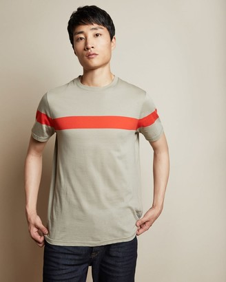 Ted Baker Cotton Central Striped T-shirt