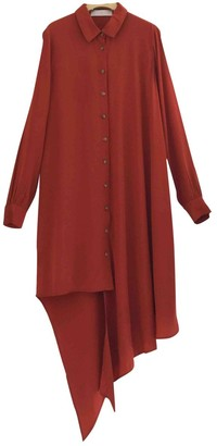 Thakoon Orange Silk Dress for Women