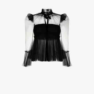 KHAITE Dominika silk tulle blouse