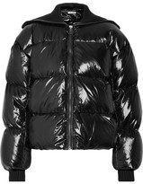 Kenzo Ribbed Knit-trimmed Quilted Shell Down Jacket - Black