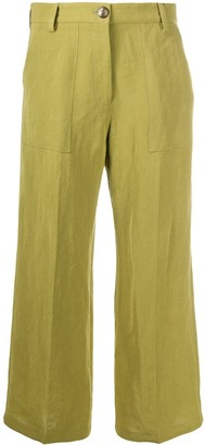 Etro Wide Leg Cropped Trousers