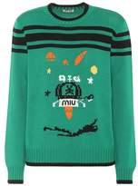Miu Miu Intarsia virgin wool sweater