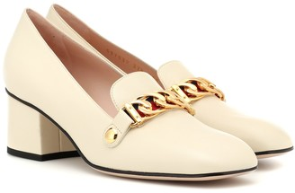 Gucci Sylvie leather loafer pumps