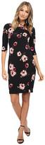 Donna Morgan 3/4 Sleeve Printed Scuba Sheath Dress
