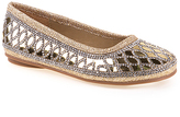 KensieGirl Gold Mirror Ballet Flat - Girls