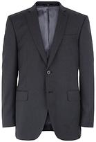 Jaeger Wool Regular Fit Suit Jacket, Charcoal