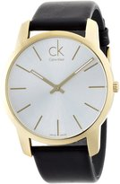 Calvin Klein Men's City K2G21520 Black Leather Swiss Quartz Watch with Dial