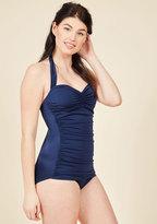 Bathing Beauty One-Piece Swimsuit in Navy in 4