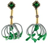Marni Wire Tassel Chandelier Earrings